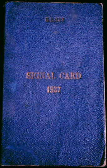 Royal Signals ... Royal Navy Signal Card