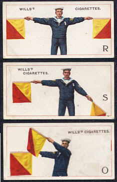 Royal Signals ... Royal Navy Hand Semaphore Flagging
